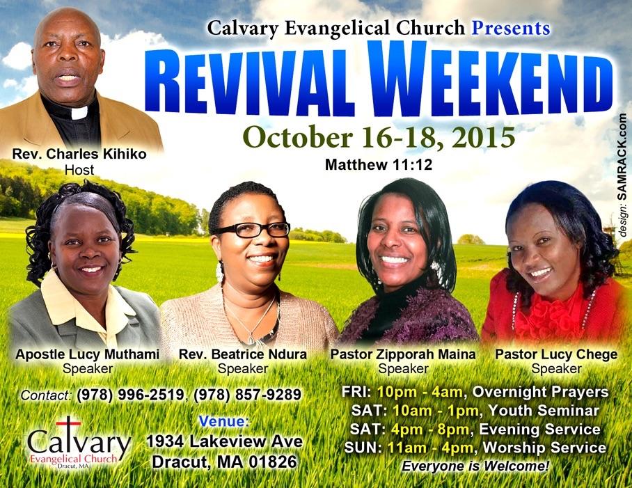 Invitation Revival Weekend Oct 16 18th 2015 Calvary Evangelical