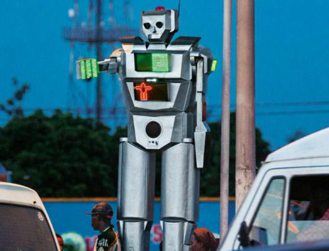 The Congo S Solar Powered Robot As Traffic Controller