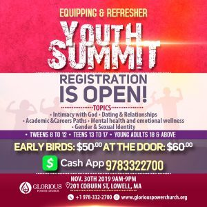 Equipping & Refresher Youth Summit 30 November 2019