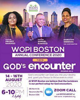 WOPI BOSTON ANNUAL CONFERENCE 2020 AUGUST 14-16 2020 @ 161 NORTH STREET NEWTONVILLE,MASSACHUSETTS