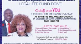 The Organizing Committee Bishop John Wachira & Joanne Wachira Legal Fee Fund Drive 1/26/2020 @ CITAC 3PM All are Invited!