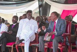 Raila breathes fire as he defends the Kenyatta and Odinga families
