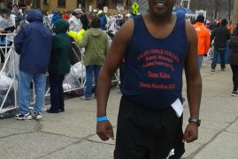 PASTOR KIHATO FINISHES IN THE 2015 BOSTON MARATHON