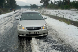 IN PICTURES: 'Snow' covers Kenyan villages