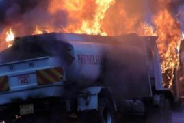 VIDEO: Brave Kenyan Drives Burning Fuel Tanker