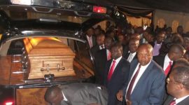 Gachagua's body arrives in the country, received by family, dignitaries