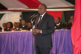 Uhuru, Raila unite at Gachagua's burial, ask MCAs to stop fighting governors