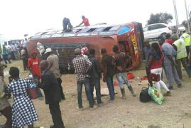 36 people injured in Mombasa road accident near Athi River