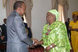 UHURU FETES MAMA SARAH OBAMA FOR SERVICE TO THE POOR