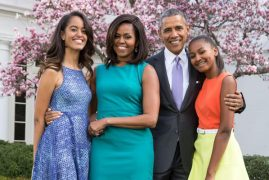 First Lady and daughters not on this trip