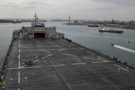 "USS Hershel ""Woody"" Williams Enters Mombasa, Kenya"