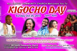 All Saint's Community Church Quincy,Invites to Praise/ Kigoco Fellowship Oct 25th 2015