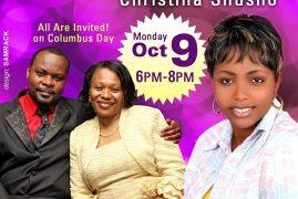 Night of Worship LIVE CONCERT with Christina Shusho Mon.Oct 9 2017@6Pm to 8Pm at International Gospel Church,Chelsea Massachusetts