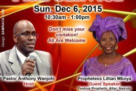 Invitation: Prophetic Revival Fire Service With Prophetess Lillian Mboya Sun Dec 6 2015 10:30Am @ Jesus Celebration Center,Lowell,Massachusetts