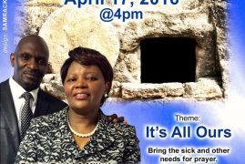 Resurrection Miracle Service @CCF Nashua,NH April 17th 2016 @4PM