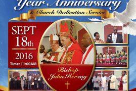 Invitation: St Stephens Church Lowell,Massachusetts Celebrating 11th Year Anniversary September 18th 2016 Time 11:00AM