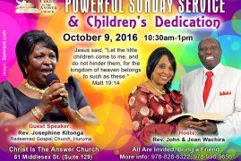 C.I.T.A.C Powerful Sunday Service & Children's Dedication Oct 9 2016 @ 10:30AM