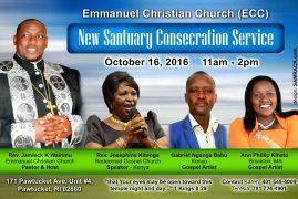 Emmanuel Christian Church,Rhode Island New Sanctuary Consecration Service