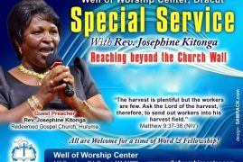 "Video:""Reaching Beyond the Church Wall""with Rev Josephine Kitonga @ Well of Worship Center,Dracut,Massachusetts"