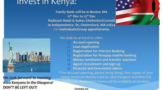 Family Bank will be in Boston MA 11th Dec to 13th Dec Radisson Hotel & Suites Chelmsford-Lowell 10 Independence Dr, Chelmsford, MA