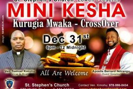 Mini Kesha -CrossOver Dec.31st 2016 6Pm – Midnight @ St Stephen's Church Lowell,Massachusetts
