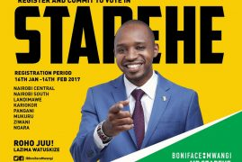Boniface Mwangi MP Starehe:Register & Commit to vote   January 14th to February 14th 2017   Lazima Watuskie!