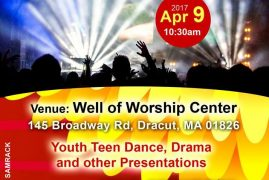 "Well of Worship Center Presents ""Youth Sunday"" with the ""SEEKERS""April  9th 2017 @10:30Am Broadway Rd Dracut,Massachusetts"
