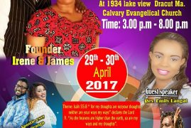 Joy of Praise Celebration Ministry Presents: Rev Emily Langat (Guest Speaker) April 29-30th 2017 @ Calvary Evangelical Church,MA