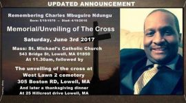 Memorial/Unveiling of the cross:Remembering Charles Mbuguiro Ndungu June 3rd 2017