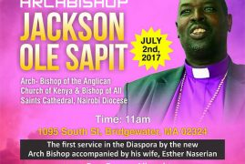 Faith Anglican Church Invites you to a Special Sunday Service with The Most Rev Archbishop Jackson Ole Sapit