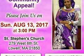 Kindly support Nancy Givens Medical Fund Sunday August 13,2017 Time: 3PM