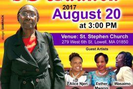 Cucu Wa Njau CD Launch August 20th 2017@3PM @St Stephen Church Lowell,Massachusetts