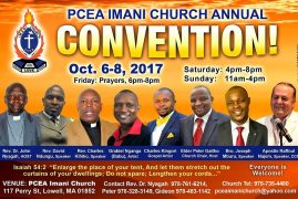 PCEA IMANI CHURCH ANNUAL CONVENTION Oct 6-8 2017