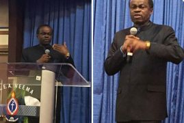 P.L.O Lumumba at PCEA CHURCH NEEMA,LOWELL,MASSACHUSETTS