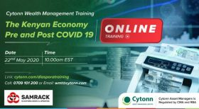SAMRACK Cytonn Diaspora Training-Pre and Post Covid19 on Kenyan Economy