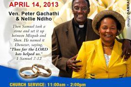 "Kenyan Diaspora Church ""Pioneer"" Pastor, to Celebrate 40 years Wedding Anniversary in Lawrence, Massachusetts"