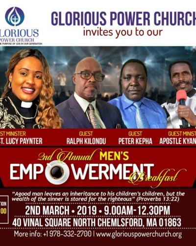 Glorious Power Church 2nd Annual Men's Empowerment Breakfast March 2 2019