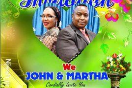 Pre-Wedding Invitation: Martha & John Njenga June 22 2019 Time 3Pm @ St Stephens Church Lowell,Massachusetts