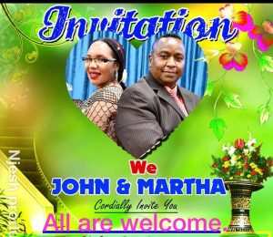 Pre-Wedding Invitation: Martha & John Njenga June 22 2019 Time 3Pm @ St Stephens Church Lowell,Massachusetts