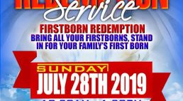 Historic First-Borns Redemtion Service to be held Sunday July 28th 2019 @ St Stephen's Church Lowell