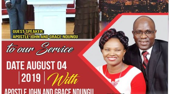 Jesus Celebration Center-Lowell With Apostle John & Grace Ndungu AuG 4th 2019 @ 10:30Am Host: Pst Anthony & Grace Nderitu  All are Invited!