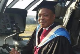 PHOTOS: Nairobi Pastor Arrives For Graduation in Helicopter