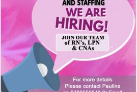 Savens Homecare and Staffing :We are Hiring Join our team of RN,LPN & CNSs Contact: 978-655-6540