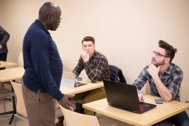 Former Kenyan journalist Charles Yier speaks about his journey to Iowa State