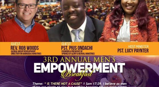3rd Annual Men's Empowerment Breakfast March 7th 2020 Time9Am to12:30Noon All are Invited