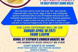 FUNDRAISER TO HELP OFFSET SOME BILLS FOR JANE