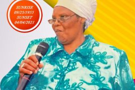 Memorial Service planned for Thursday April 8 2021 Time 6:30PM EST for the late Hannah Wanjiru:Pastor Alice Muchai mom via Zoom