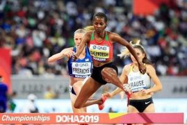Hongera Beatrice Chepkoech on winning Gold in the 3000m steeplechase at the IAAF