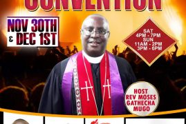 Invitation:All Nations Presbyterian Church Convention November Sat. 30th 2019 Time:4Pm -7Pm and Sun.December 1st 2019 Time:3Pm – 6Pm