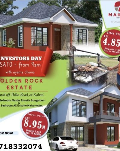 MAHIGA HOMES WELCOMES YOU TO A FULFILLED LIVING INVESTORS DAY THIS SATURDAY